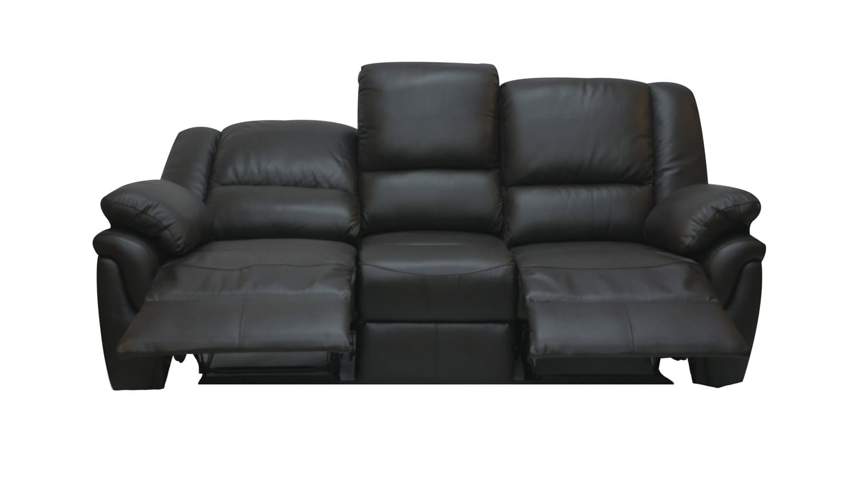 Najnowsze ALABAMA sofa skórzana 3 osobowa z funkcją RELAKS • meble z funkcją SC95